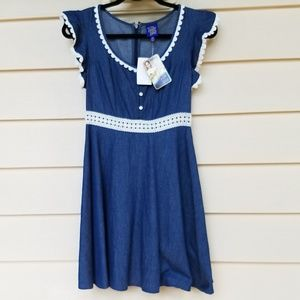 Disney Beauty & the Beast denim dress xsm